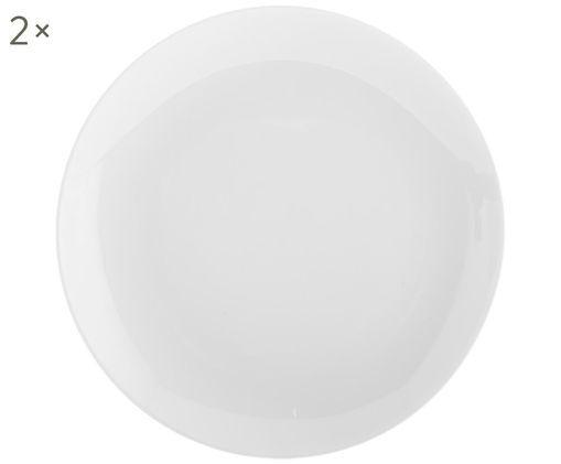 Frühstücksteller Delight Modern, 2 Stück, Porzellan, Weiß, Ø 20 cm