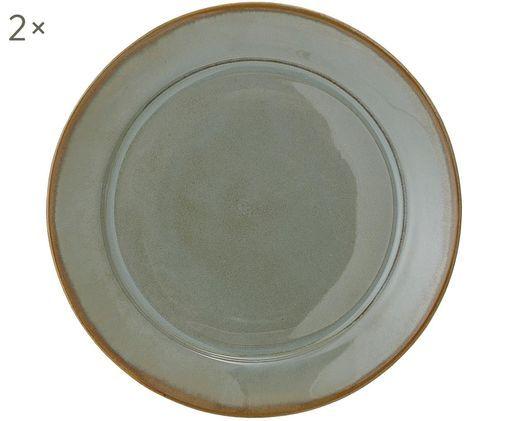 Assiettes plates Pixie, 2pièces, Tons verts