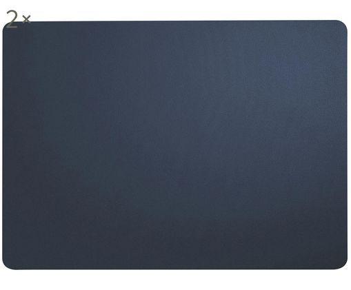 Set tovagliette in materiale sintetico Pik 2 pz, Materiale sintetico (PVC), Navy, Larg. 33 x Lung. 46 cm