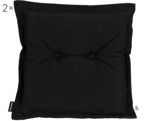 Poduszka na siedzisko Panama, 2 szt., Tapicerka: 50% bawełna, 50%polieste, Czarny, S 50 x D 50 cm
