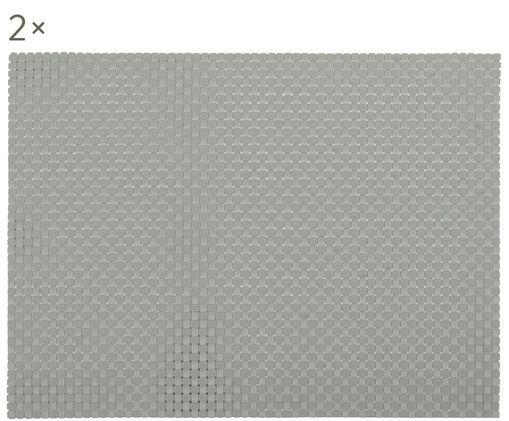 Tovagliette Confetti, 2 pz., Materiale sintetico (PVC), Grigio chiaro, Lung. 40 x Larg. 30 cm