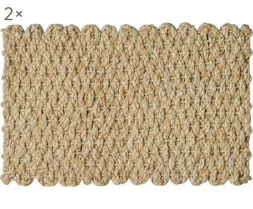 Podkładka wykonana z liści kukurydzy Cascada, 2 szt., Łodygi kukurydzy, Łodygi kukurydzy, S 30 x D 45 cm