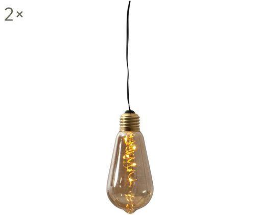 Lampa dekoracyjna z funkcją timera Glow, 2szt., Odcienie bursztynowego