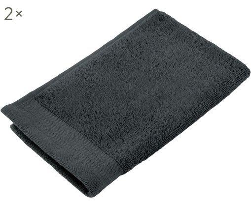 Asciugamano per ospiti Soft Cotton, 2 pz., Cotone, qualità media 550g/m², Antracite, Larg. 30 x Lung. 50 cm