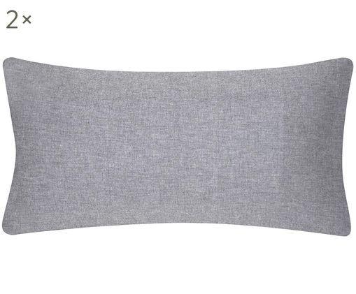 Kissenbezüge Cashmere in Grau, 2 Stück, 93% Baumwolle, 7% Kaschmir, Grau, 40 x 80 cm