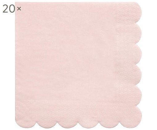 Tovaglioli di carta Simply Eco, 20 pz., Carta, Rosa, Larg. 33 x Lung. 33 cm