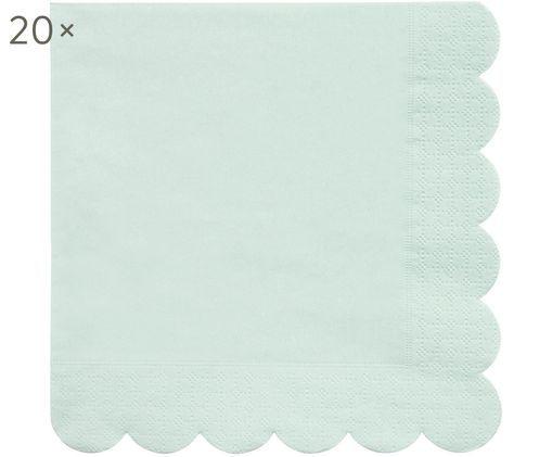 Tovaglioli di carta Simply Eco 20 pz, Carta, Verde menta, Larg. 33 x Lung. 33 cm