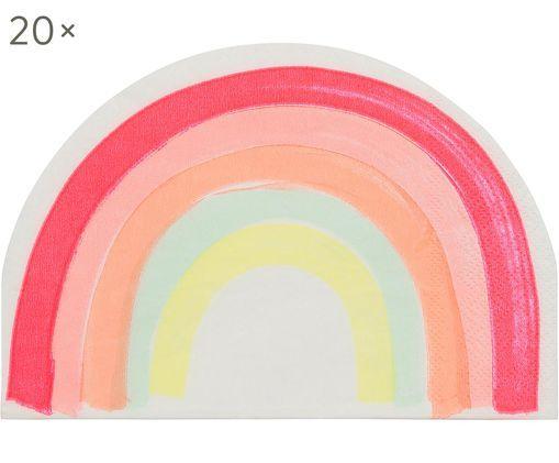 Servilletas de papel Rainbow, 20 uds., Papel, Multicolor, An 12 x L 17 cm