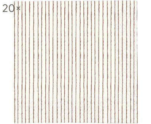 Tovaglioli di carta Copenhagen, 20 pz., Carta, Beige, rosso, Larg. 33 x Lung. 33 cm
