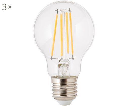 Dimmbare Leuchtmittel Cherub (E27 / 8,3Watt) 3 Stück, Leuchtmittelschirm: Glas, Leuchtmittelfassung: Aluminium, Transparent, Ø 8 x H 10 cm