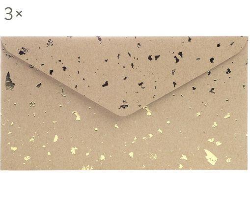 EnveloppesCarat, 3pièces, Brun, couleur dorée