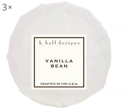 Kula do kąpieli Vanilla Bean, 3 szt. (wanilia i tonkowiec wonny), Biały, Ø 7 x W 7 cm