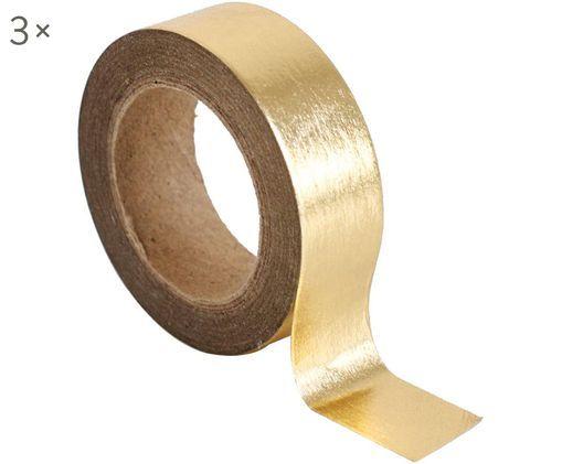 Rubans adhésifs Gold, 3 pièces, Couleur dorée