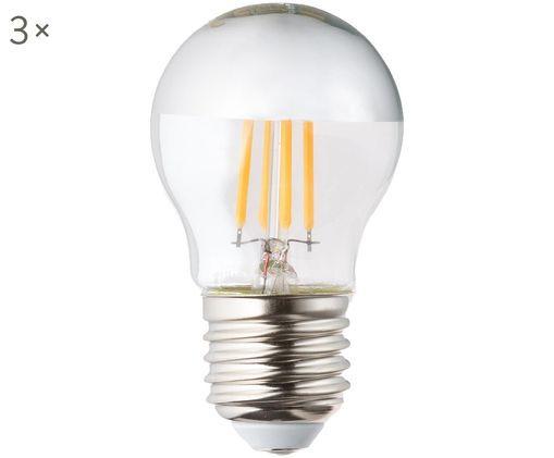 Dimmbare Leuchtmittel Gamiel (E27 / 5Watt) 3 Stück, Leuchtmittelschirm: Glas,verchromt, Leuchtmittelfassung: Aluminium, Transparent, Chrom, Ø 5 x H 8 cm