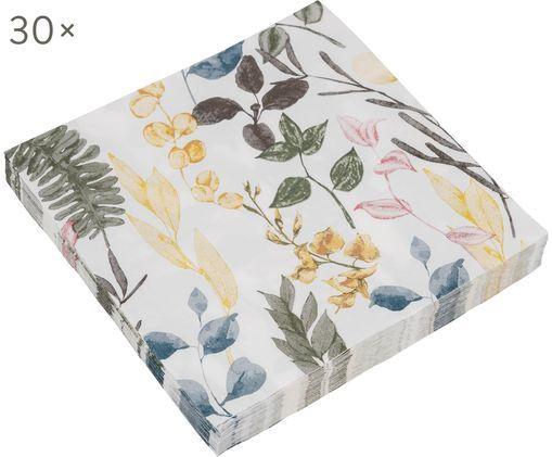 Tovaglioli di carta Summerfield 30 pz, Carta, Bianco, multicolore, Larg. 17 x Lung. 17 cm