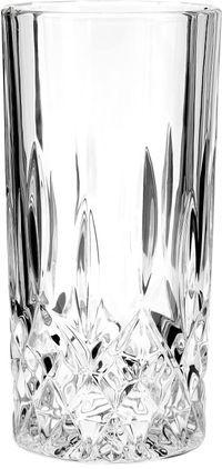 Longdrinkgläser George mit Kristallrelief, 4 Stück