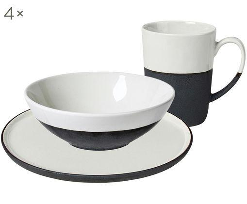 Handgemachtes Frühstücks-Set Esrum matt/glänzend, 4 Personen (12-tlg.)