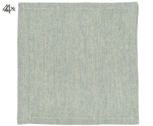 Serviettes de table Hedvig, 4pièces, Gris-turquoise