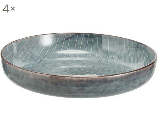 Handgemachte Schalen Nordic Sea, 4 Stück
