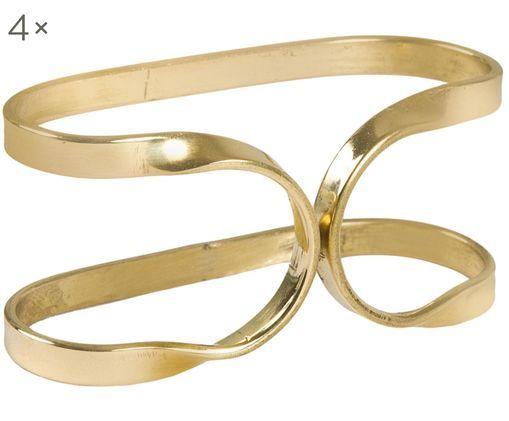 Serviettenringe Oslo, 4 Stück, Metall, Goldfarben, Ø 6 x H 3 cm