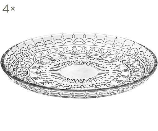 Piatti da dessert in cristallo Fondo, 4 pz., Cristallo Luxion, Trasparente, Ø 21 cm