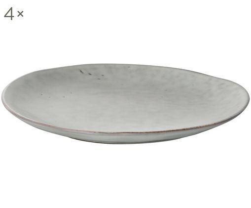 Platos artesanales de postre Nordic Sand, 4uds., Gres, Arena, Ø 20 x Al 3 cm