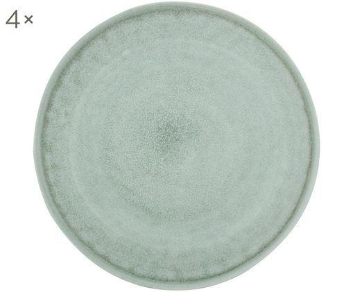 Assiettes plates Glamm, 4pièces, Vert