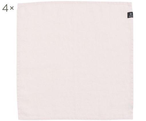 Tovagliolo di lino Sunshine, 4 pz., Lino, Rosa, P 45 x L 45 cm