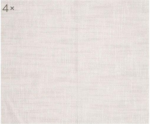 Stoffservietten Tonnika, 4 Stück, Baumwolle, Beige, 45 x 45 cm