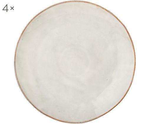 Handgemachte Platzteller Nordic Sand, 4 Stück, Steingut, Sand, Ø 30 cm