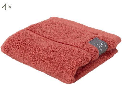 Asciugamano per ospiti XS Premium Terry, 4 pz., Rosa corallo
