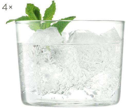 Bicchiere acqua in vetro soffiato Gio 4 pz, Vetro, Trasparente, Ø 8 x Alt. 6 cm