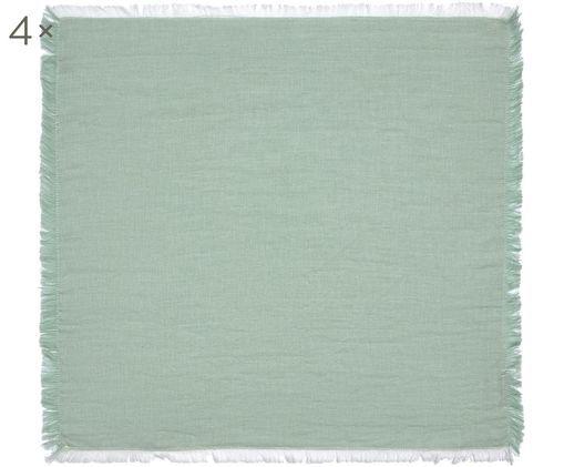Tovaglioli di stoffa Layer, 4 pz., Cotone, Verde, Larg. 45 x Lung. 45 cm