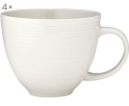 Tasses à café Darby, 4 pièces, Blanc