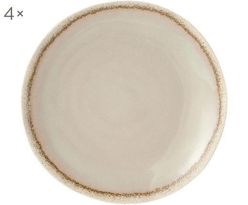 Piatto da colazione Reyes, 4 pz., Ceramica, Avorio, Ø 21 cm