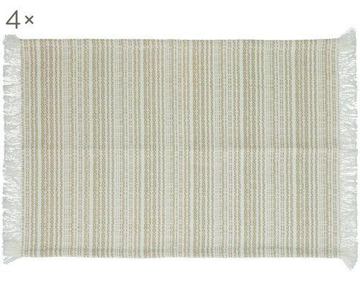 Set tovagliette Millesraies, 4 pz., Cotone, Beige, Larg. 33 x Lung. 48 cm