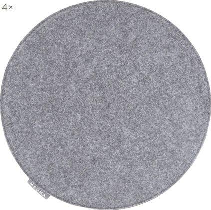 Runde Filz-Sitzauflagen Avaro, 4 Stück