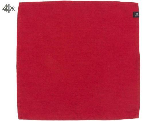 Tovagliolo di lino Sunshine, 4 pz., Rosso