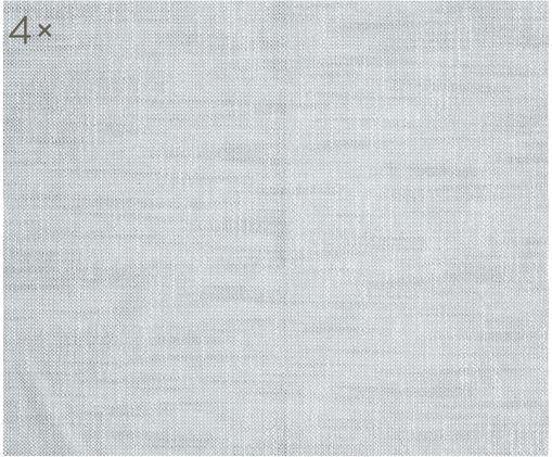 Tovagliolo di stoffa Tonnika, 4 pz., Cotone, Blu grigio, Larg. 45 x Lung. 45 cm