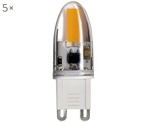 LED Leuchtmittel Halo (G9 / 1,6Watt) 5 Stück, Glas, Transparent, 2 x 5 cm