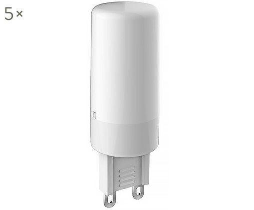LED-Leuchtmittel Gabriel(G9 / 3Watt) 5 Stück, Leuchtmittelschirm: Kunststoff, Leuchtmittelfassung: Aluminium, Transparent, Ø 2 x H 6 cm