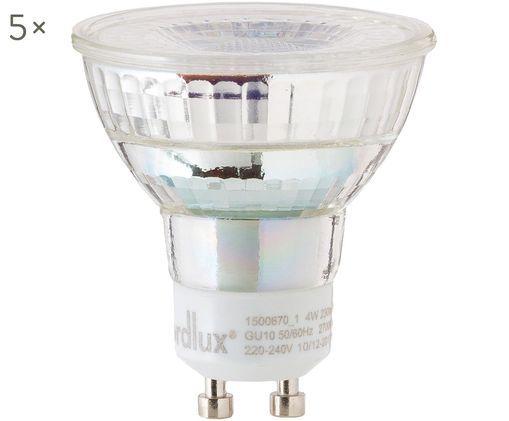 Bombillas LED Ferre (GU10/4W),5uds., Ampolla: vidrio, Casquillo: aluminio, Transparente, Ø 5 x Al 6 cm