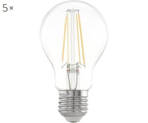 LED-Leuchtmittel Cord (E27 / 6Watt) 5 Stück, Leuchtmittelschirm: Glas, Leuchtmittelfassung: Aluminium, Transparent, Ø 6 x H 10 cm