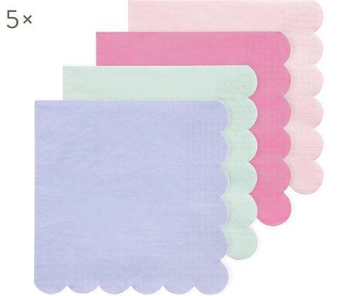 Set de servilletas de papel Simply Eco, 20pzas., Rosa, verde menta, azul claro, rosa