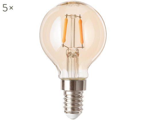 Ampoules LED Luel (E14-1,2W), 5 pièces, Ambré