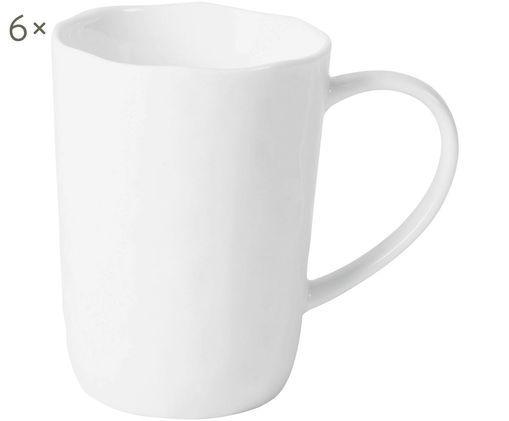 Kaffeetassen Porcelino mit unebener Oberfläche, 6 Stück