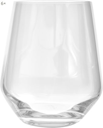 Bauchige Kristall-Wassergläser Revolution, 6er-Set