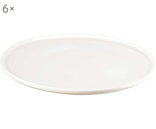 Fine Bone China Speiseteller Oco, 6 Stück