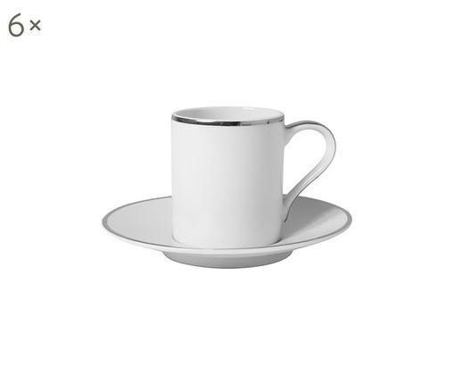 Set tazas de café Lydia, 12pzas., Blanco