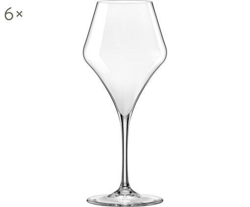 Bauchige Rotweingläser Aram, 6er-Set, Glas, Transparent, Ø 10 x H 24 cm